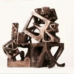 Francesco Lupo (classe 1985 - Accademia di Belle Arti di Urbino), Risorse umane, fusione in bronzo, 2014, 40x40x60 cm