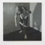Marco Bacoli (classe 1990 - Accademia di Belle Arti di Urbino), Le quattro zone, 2015, olio su tela, 150x150 cm