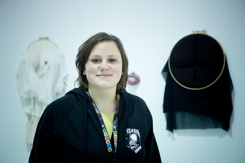 La curatrice Stefania Vaillese
