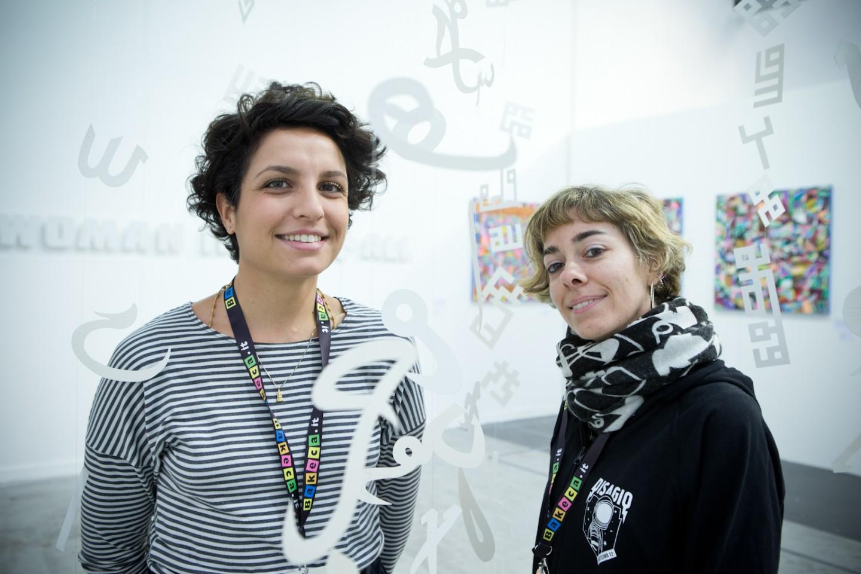 Le curatrice Eleonora Angela Maria Ignazzi e Francesca Pich