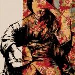 ROBERTO MITOLO_49_01, acrilico su tessuto giapponese, 2014, h106x70, H