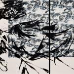 ROBERTO MITOLO_49_02, acrilico su tessuto giapponese, 2014, h90x150, L