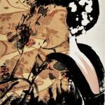 ROBERTO MITOLO_49_04, acrilico su tessuto giapponese, 2014, h40x30, B