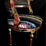 SOLE RODRIGUEZ_55_10, defia in legno dipinta con acrilico e rivestita in pura seta, E