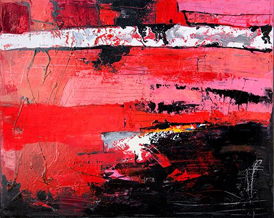 Valeriano Lessio, Passione, 80x100, smalti su tela, 2018