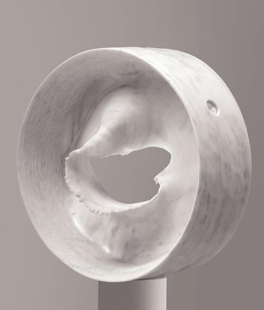 Ind.Art. - Angelo Brugnera - Cellula - marmo bianco savana - 60x60x15cm - anno 2009 copia