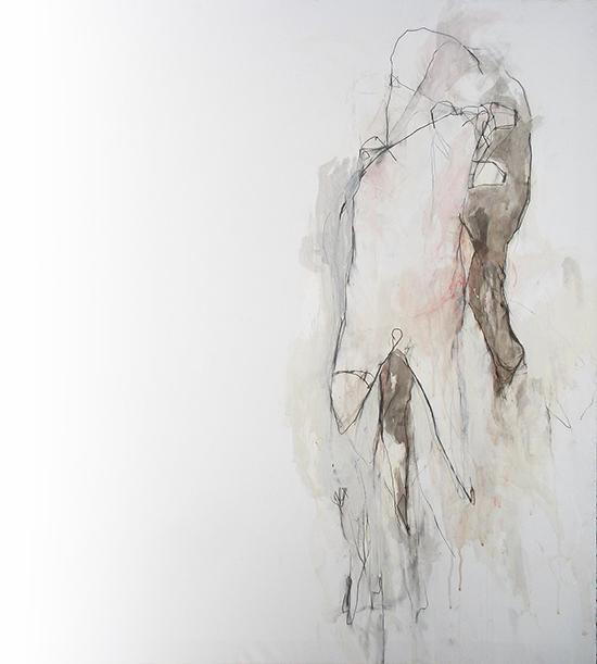 Untitled 34-18 90X100 mix on canvas 18LR