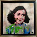 pat_Anne Frank_acrilici, stencil e spray art_50x50