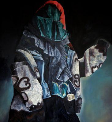 Ghost, olio su tela, 180x200 cm, 2019