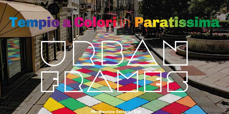 tempio a colori in paratissima urban frames