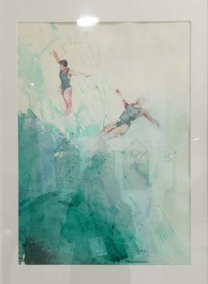 #olimpiadi2020 IV, Alketa Delishaj, acrilico su carta, 70x50 cm, 2019