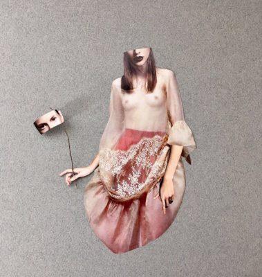 Senza titolo di ReBarbus, Collage, 50x50 cm, 2018, Pezzo Unico
