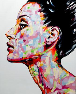 PROSPETTIVA ACCIDENTALE, Elisabetta Maistrello, ACRILICO SU TELA, 100X80 cm, 2020