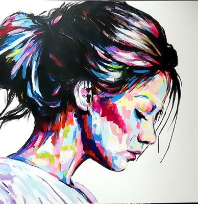 SILENZIO PROFONDO, Elisabetta Maistrello, ACRILICO SU TELA, 100X100 cm, 2020