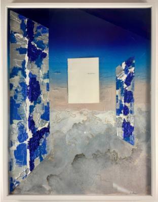 ALLE SECONDE CHANCE, Silvia Bosio, tecnica mista con pagina libro, 70x90 cm, 2020
