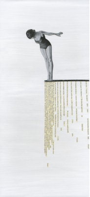 oltre di luisa piglione, tecnica mista, 21x46 cm, 2020, serie di 30 (Disponibilità: 30)