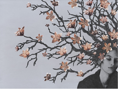 Primavera in me di luisa piglione, tecnica mista, 30x40cm, 2017 Serie di 25 (Disponibilità: 25)