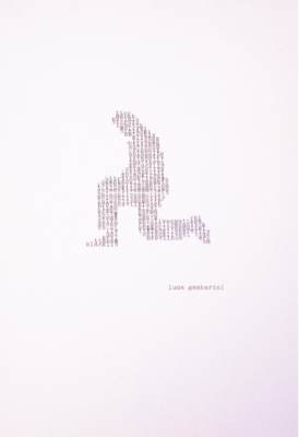 #BlackLivesMatter di Luca Gamberini, macchina da scrivere, 21x29,7 cm, 2020
