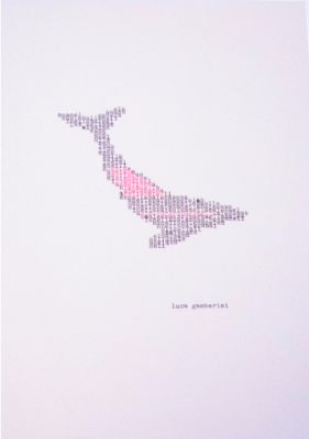La Balena di Luca Gamberini, macchina da scrivere, 21x29,7 cm, 2020