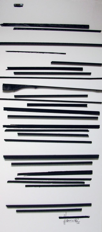 Tonino Maurizi Comunicare Tecnica mista su legno 185 x 80 cm 2007