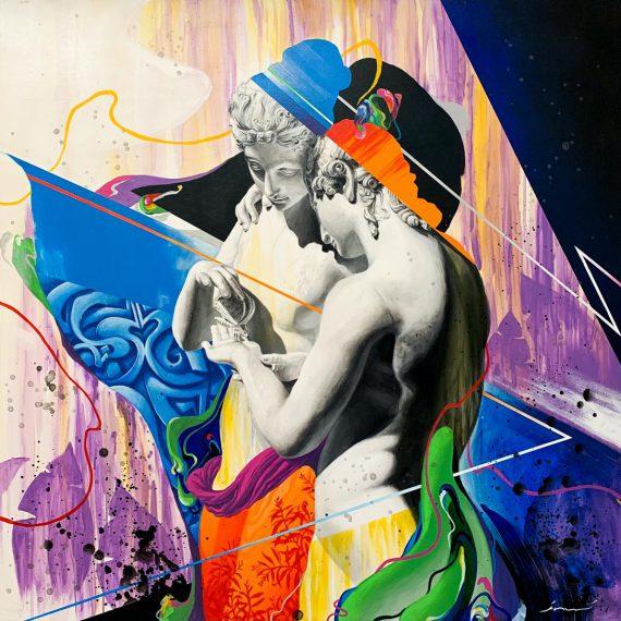 Krasner, Eterna bellezza, Acrilico su tela, 100 x 100 cm
