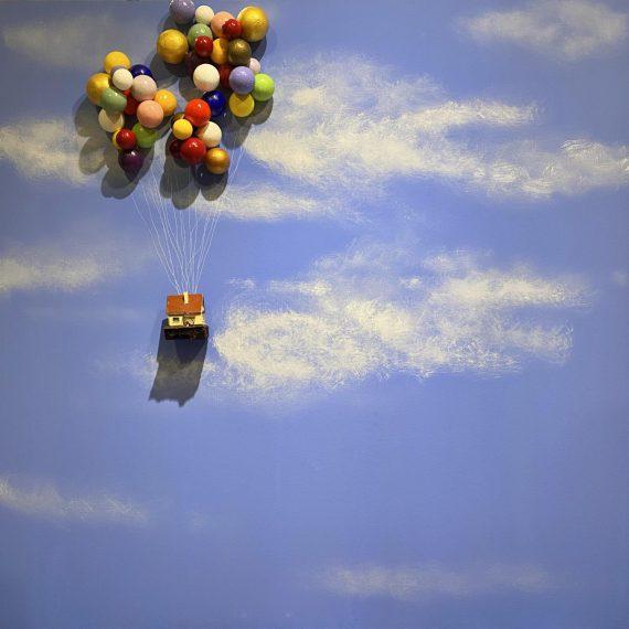 Filiberto Crosa, Sogno ancora di volare, Tecnica mista,100 x 100 cm, 2020