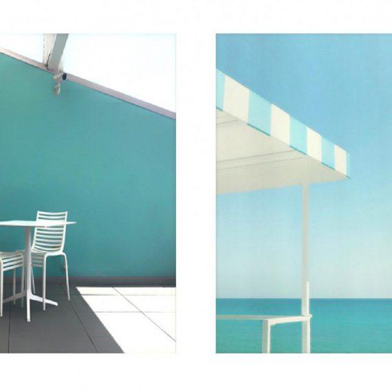 Enzo Petrusio, Color Tiffany - Côte Stampa digitale, Serie di 10, 25 x 25 cm, 2019